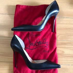 Size 39 Black Leather Christian Loubiutin Iriza
